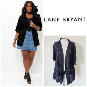 LANE BRYANT Linen Cotton Cardigan